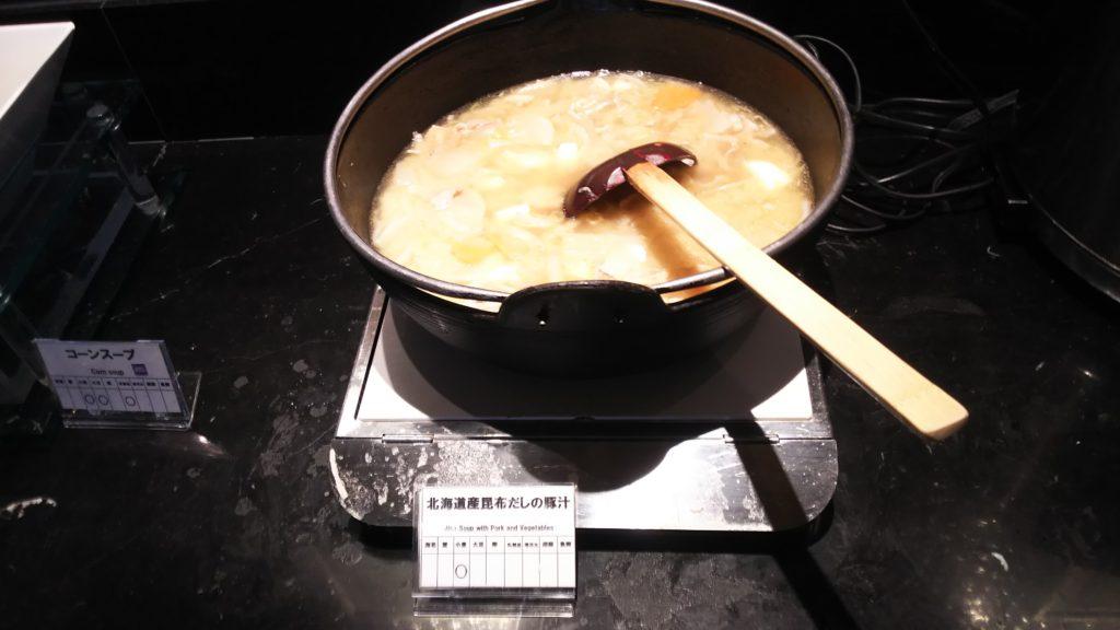 北海道産昆布だしの豚汁